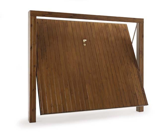 Porte basculanti Velox L legno a perline