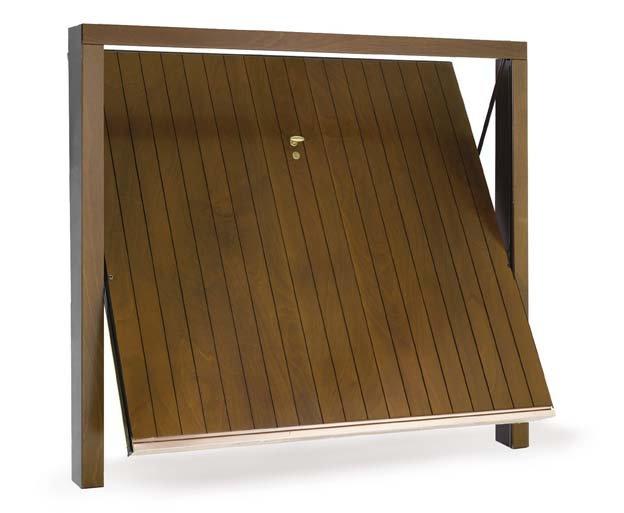 Porte basculanti Velox L legno okumè